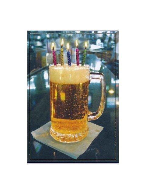 Пиво со свечками картинка