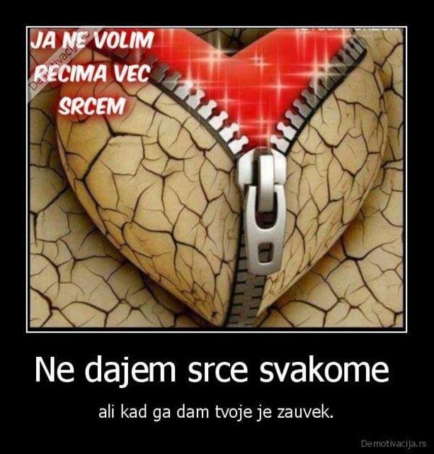 ja ne volim recima vec srcem