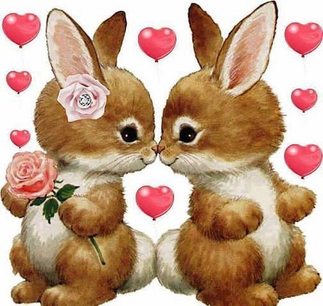 Присоединяйся, картинки зайчиков с сердечками и надписями